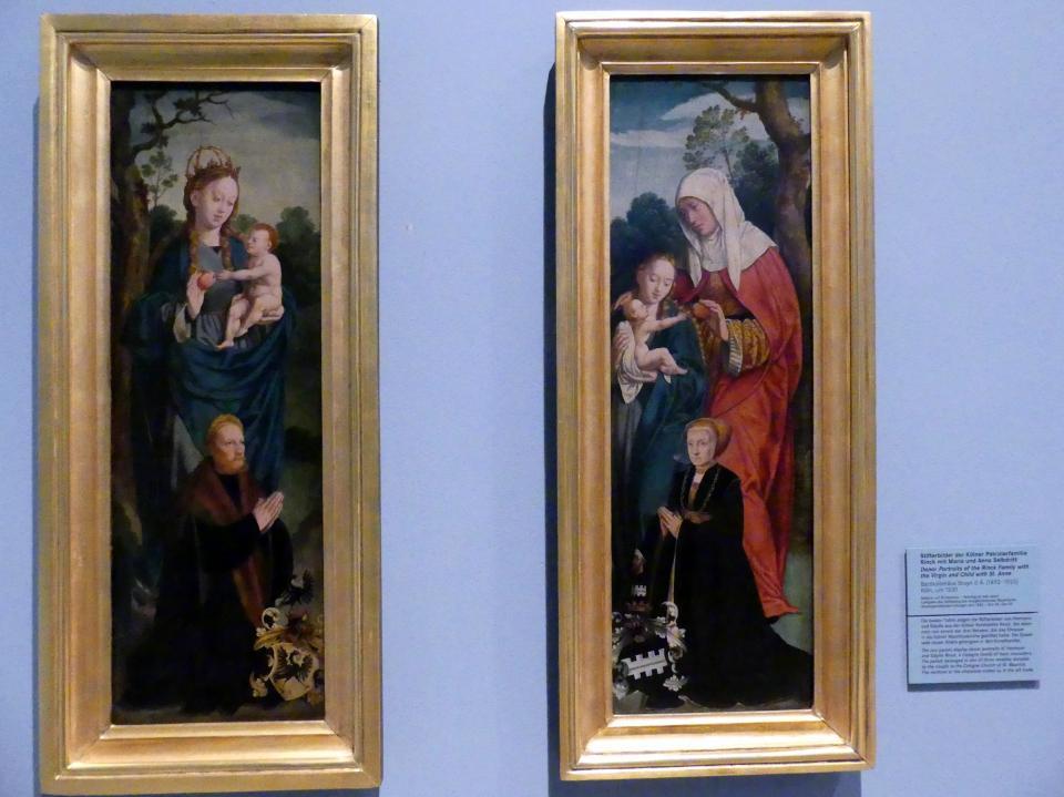 Bartholomäus Bruyn der Ältere: Stifterbild der Kölner Patrizierfamilie Rinck mit Maria, Um 1530