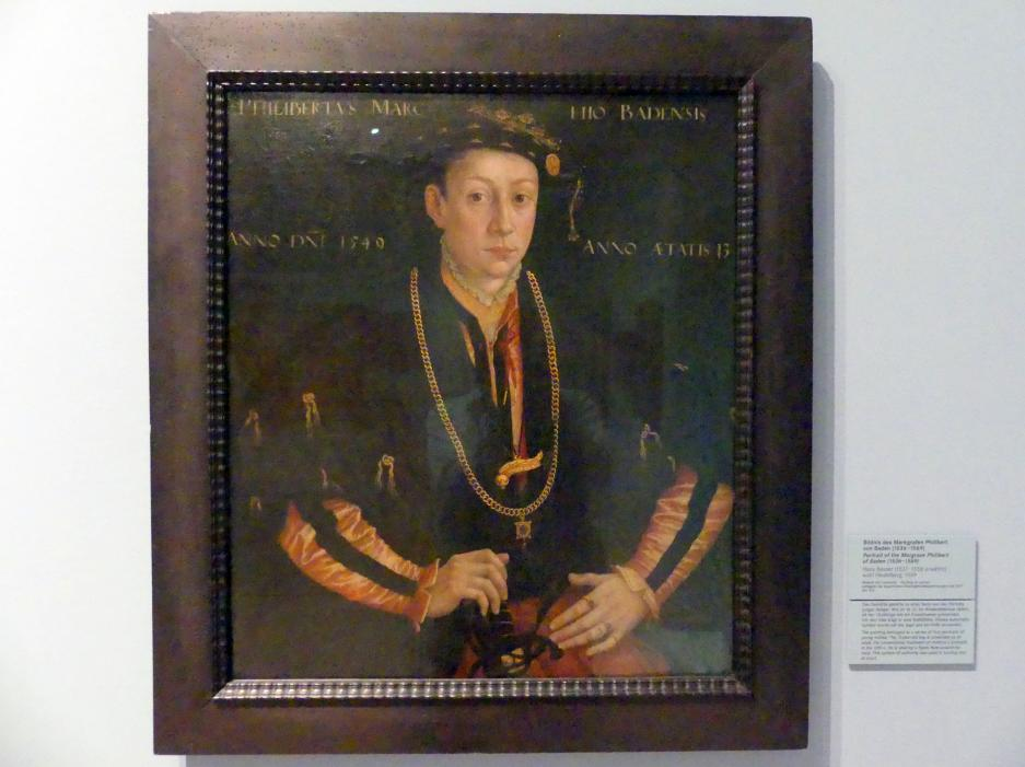 Hans Besser: Bildnis des Markgrafen Philibert von Baden, 1549