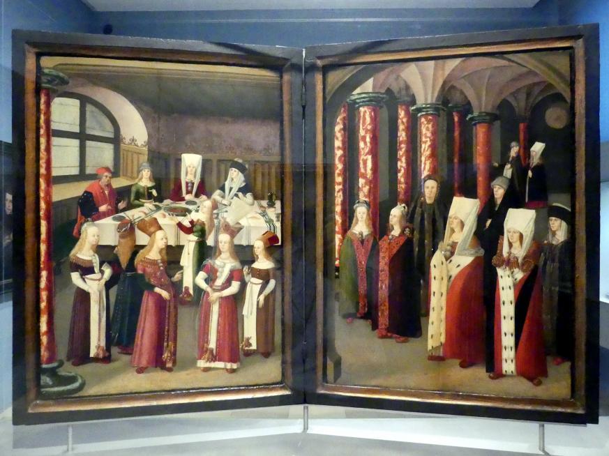 Meister Michel: Diptychon mit Bildnis eines Unbekannten, 1518