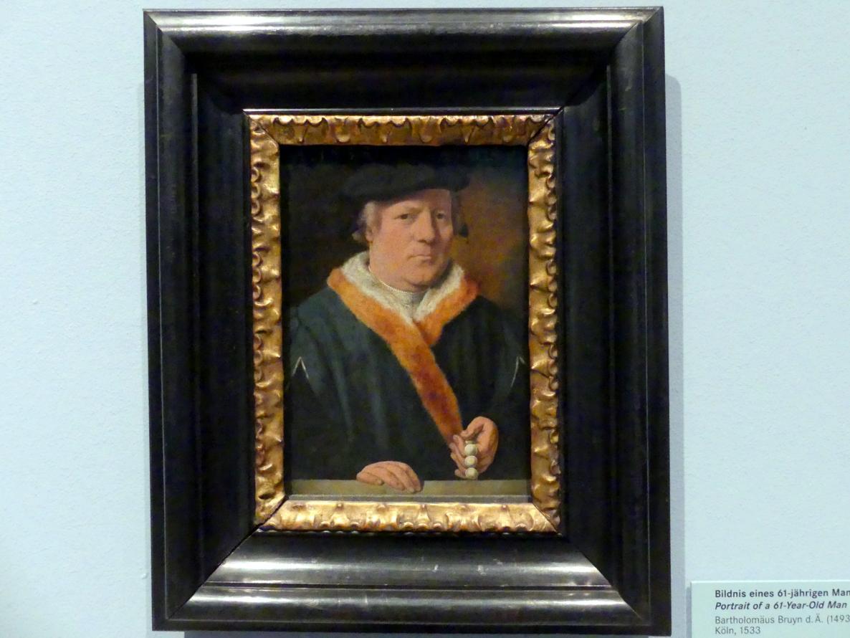 Bartholomäus Bruyn der Ältere: Bildnis eines 61-jährigen Mannes, 1533