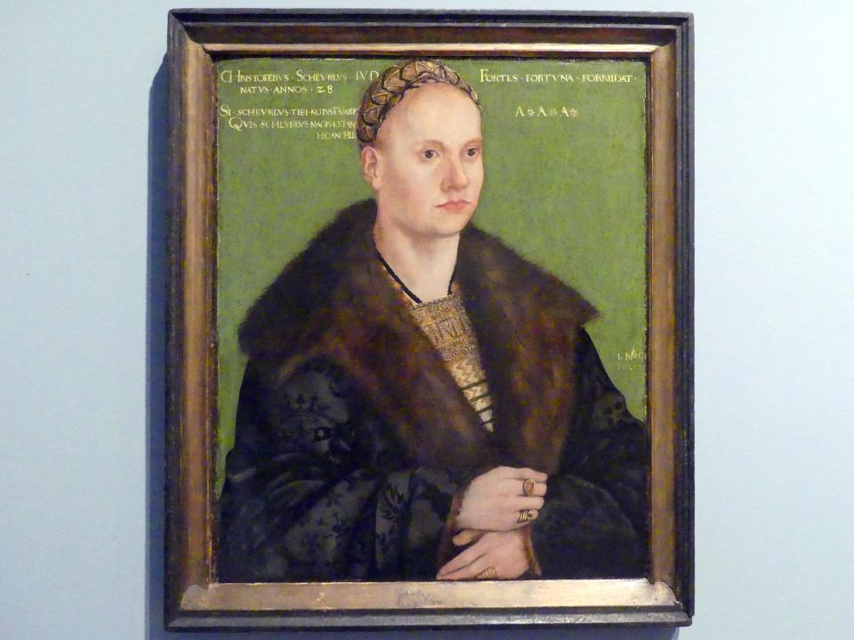 Lucas Cranach der Ältere: Porträt des Humanisten Christoph Scheurl, 1509