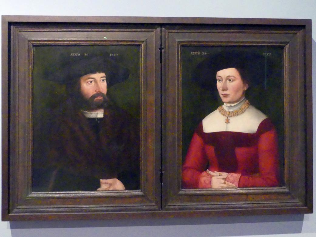 Hans Plattner: Bildnisdiptychon des Ehepaars Hans (1486--1544) und Barbara Straub (1501--1560), 1525