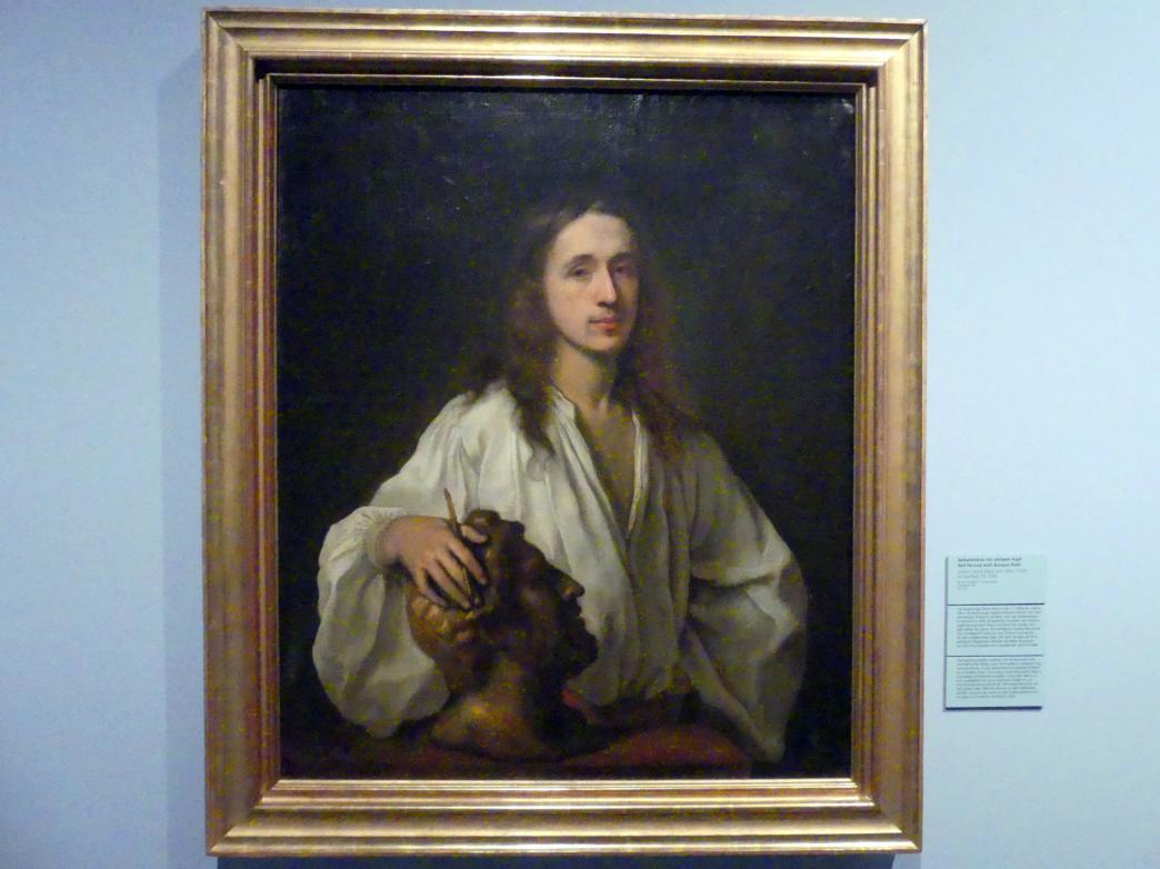 Johann Ulrich Mayr: Selbstbildnis mit antikem Kopf, 1650