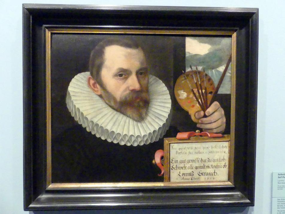 Lorenz Strauch: Selbstbildnis im Alter von 60 Jahren, 1614