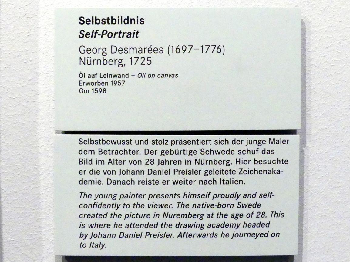 George Desmarées: Selbstbildnis, 1725