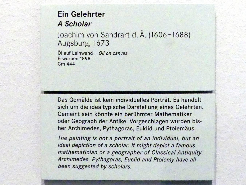 Joachim von Sandrart der Ältere: Ein Gelehrter, 1673, Bild 2/2