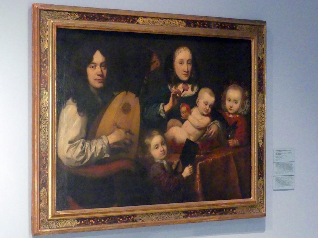 Daniel Preissler: Selbstbildnis des Künstlers Daniel Preisler im Kreis seiner Familie, 1665