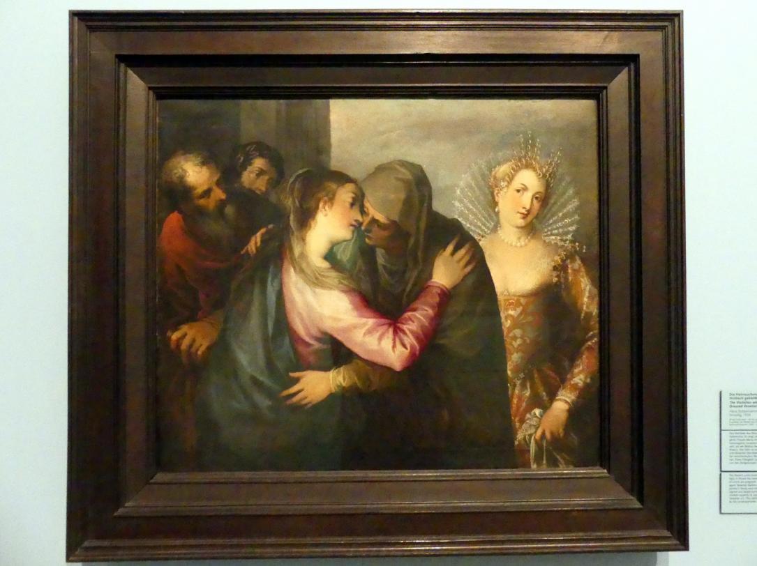 Johannes Rottenhammer der Ältere: Die Heimsuchung Mariae mit einer modisch gekleideten Venezianerin, 1596