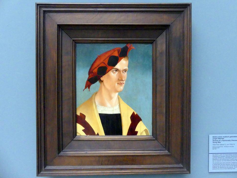 Bildnis eines modisch gekleideten jungen Mannes, um 1518 - 1519
