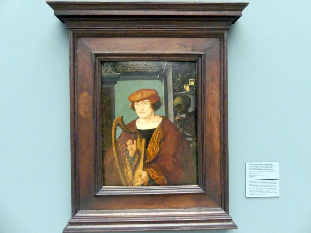Hans Holbein der Jüngere (Umkreis): Bildnis des Luzerner Humanisten Johannes Zimmermann (Xylotectus) (1490-1526), 1520