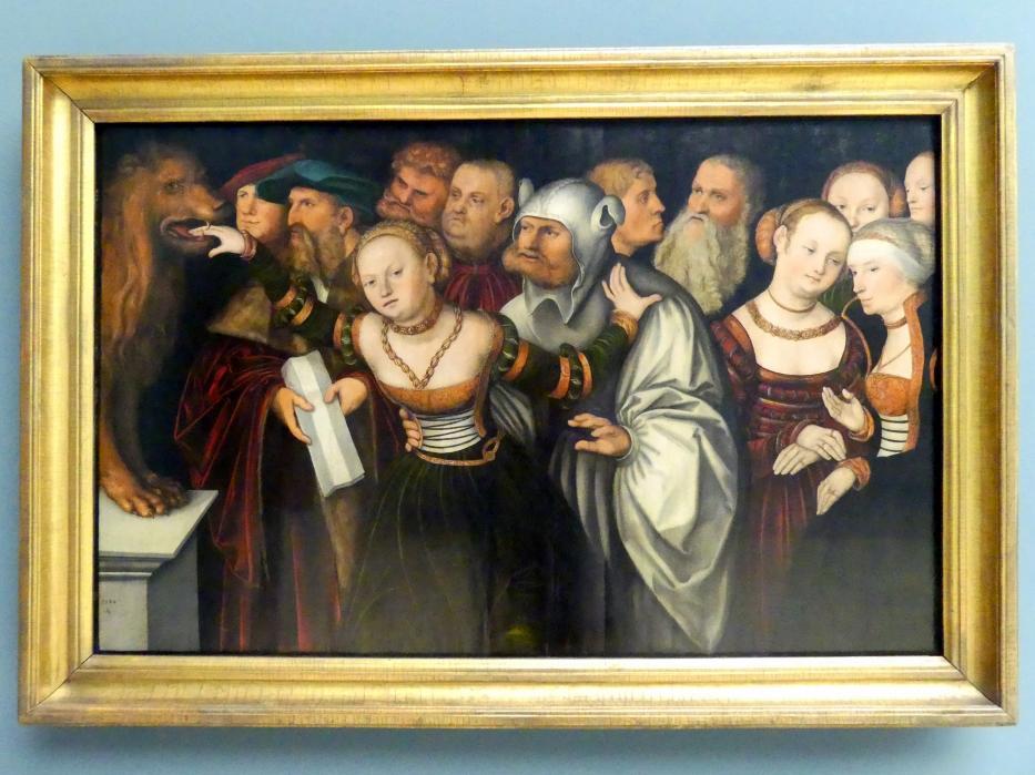 Lucas Cranach der Ältere: Die Fabel vom Mund der Wahrheit, 1534