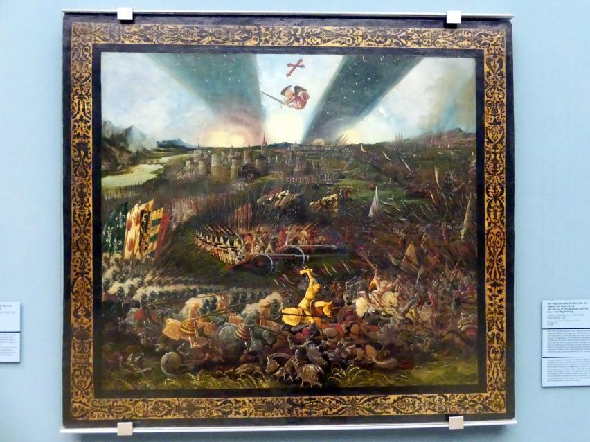 Albrecht Altdorfer: Der Sieg Karls des Großen über die Awaren bei Regensburg, 1518