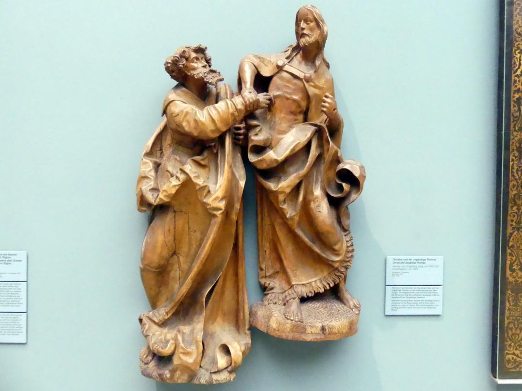 Meister von Dingolfing: Christus und der ungläubige Thomas, um 1520