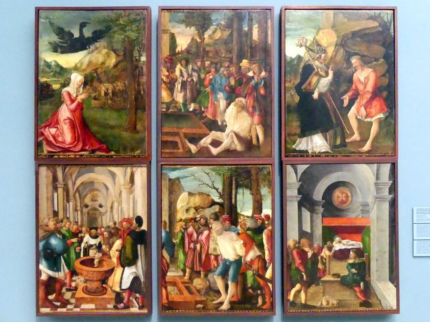 Monogrammist I: Flügelbilder eines Eligius-Altars mit Szenen aus der Legende des hl. Eligius, 1520