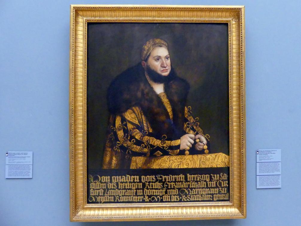 Lucas Cranach der Ältere: Bildnis des Kurfürsten Friedrich III. des Weisen von Sachsen (1463-1525), 1507 - 1508