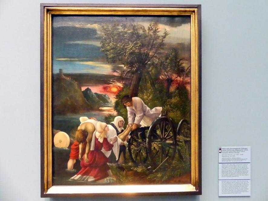Albrecht Altdorfer: Tafeln einer Florianslegende: Gefangennahme, Vorführung, Bergung der Leiche, Um 1520