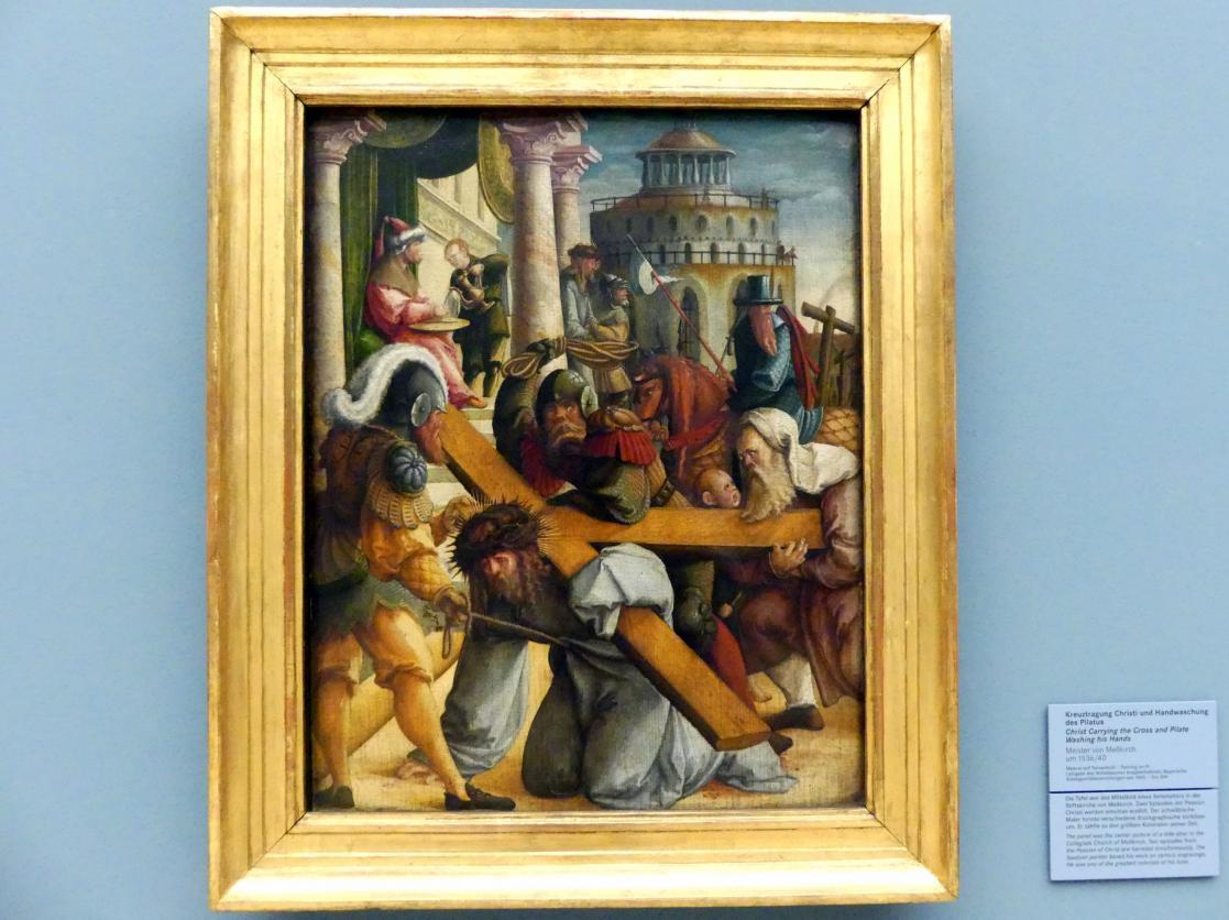 Meister von Meßkirch: Kreuztragung Christi und Handwaschung des Pilatus, um 1536 - 1540