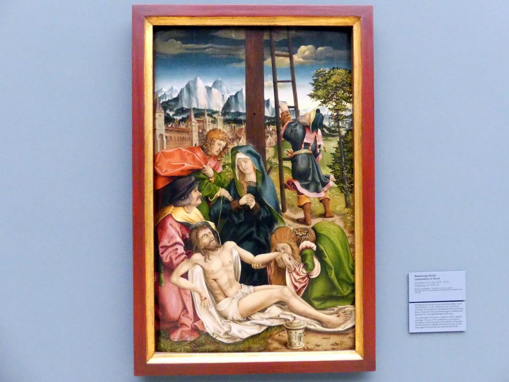 Jörg Breu der Ältere: Die Beweinung Christi, Um 1510 - 1515