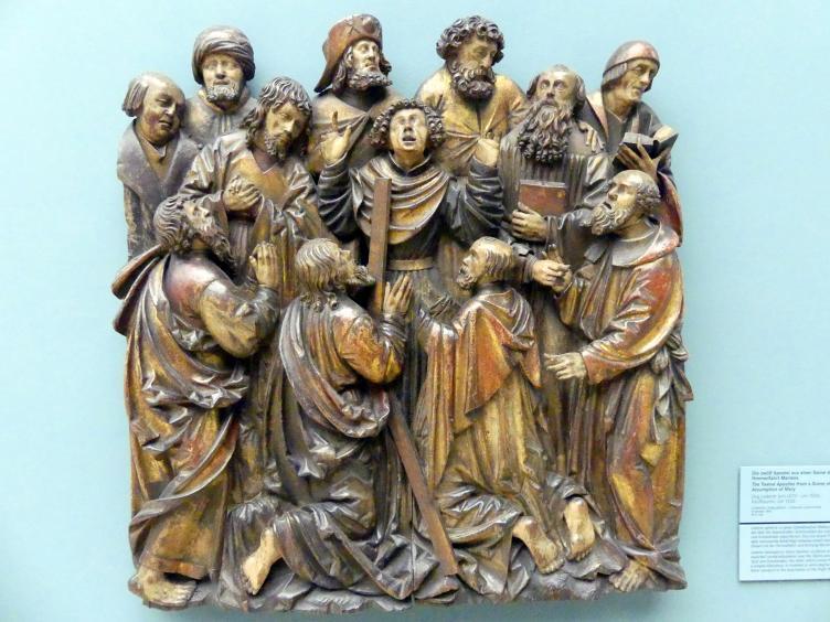 Jörg Lederer: Die zwölf Apostel aus einer Szene der Himmelfahrt Mariens, Um 1520