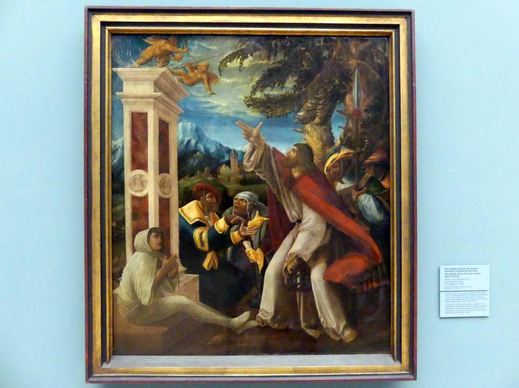 Meister des Oberaltaicher Schmerzensmannes: Der Apostel Jakobus der Jüngere beschwört heidnische Dämonen, 1518