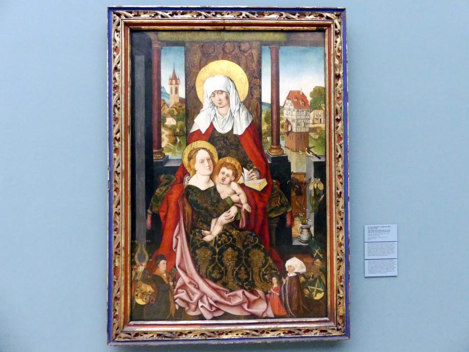 Michael Wolgemut: Hl. Anna Selbdritt, Gedächtnisbild für Anna Groß (gest. 1509), Vor 1510