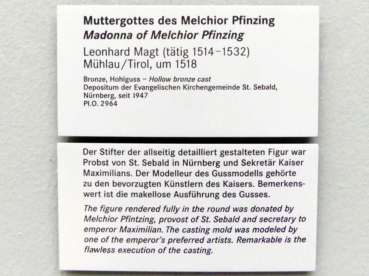 Leonhard Magt: Muttergottes des Melchior Pfintzing, vor 1518, Bild 6/6