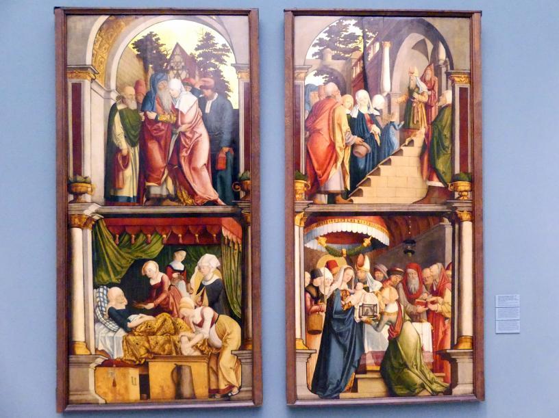 Barthel Beham: Flügel des ehemaligen Hochaltars der Frauenkirche mit Marienszenen, um 1522 - 1524