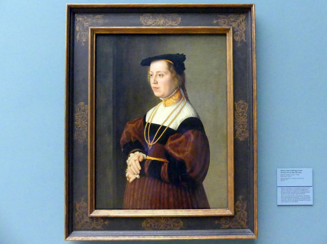 Barthel Beham: Bildnis einer 31-jährigen Dame, 1535