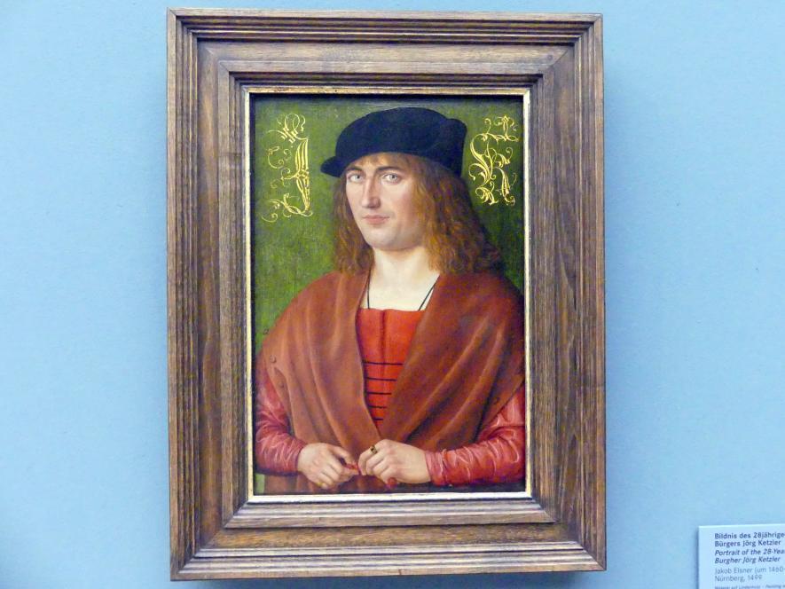 Jakob Elsner: Bildnis des 28-jährigen Nürnberger Bürgers Jörg Ketzler (1471-1529), 1499