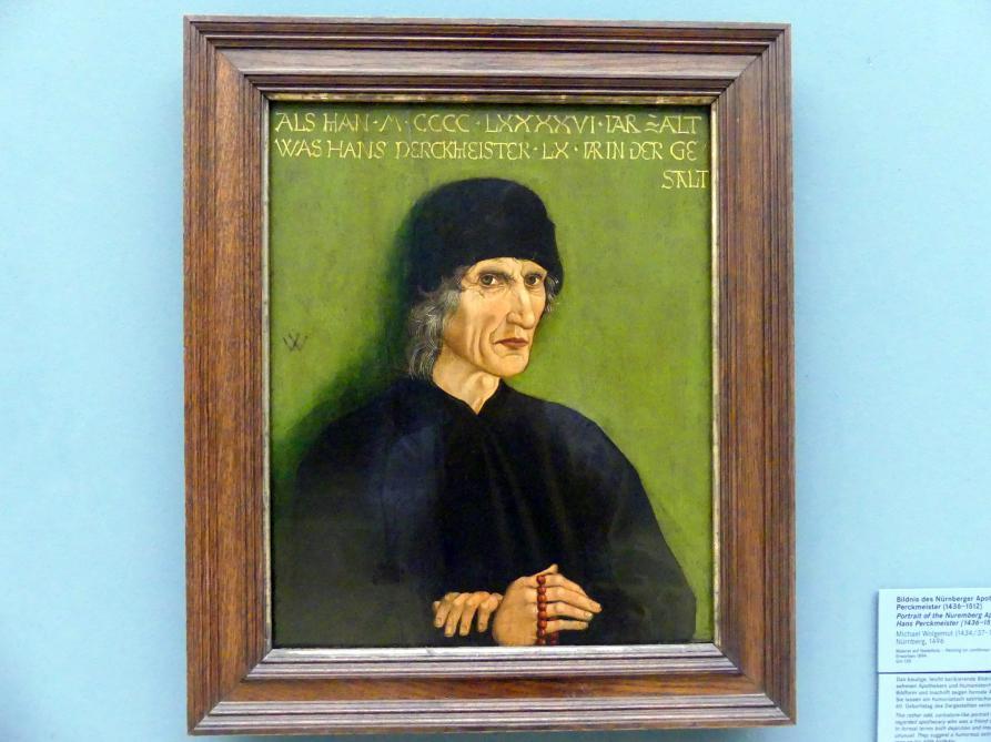 Michael Wolgemut: Bildnis des Nürnberger Apothekers Hans Perckmeister (1436-1512), 1496