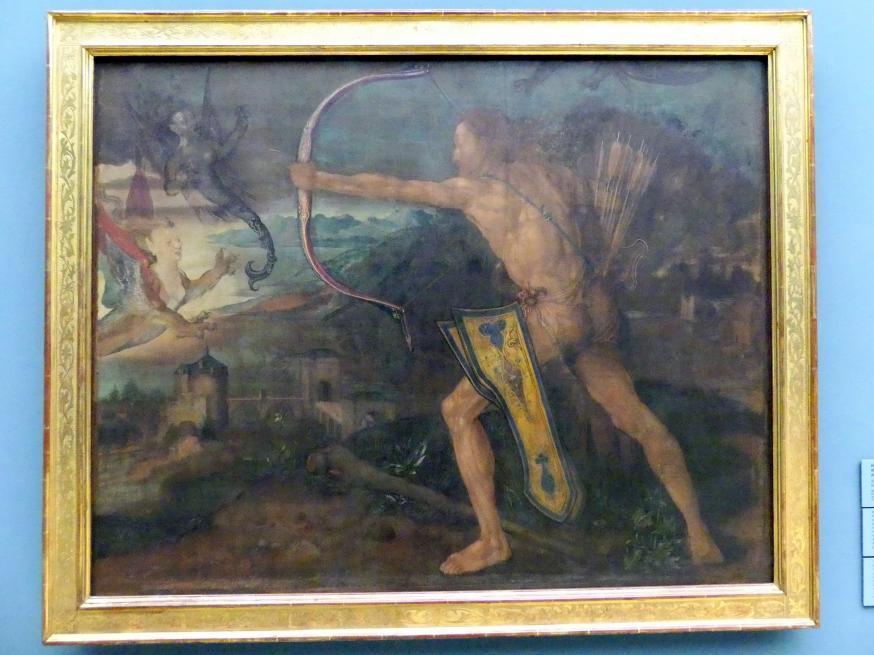 Albrecht Dürer: Herkules im Kampf gegen die stymphalischen Vögel, 1500