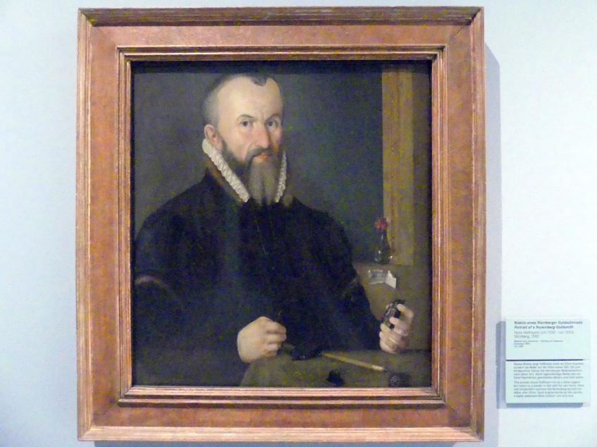 Hans Hoffmann: Bildnis eines Nürnberger Goldschmieds, 1580
