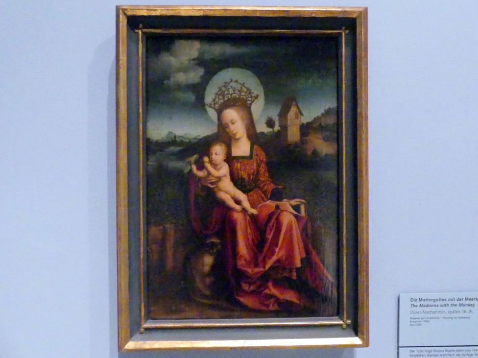 Die Muttergottes mit der Meerkatze, Ende 16. Jhd.