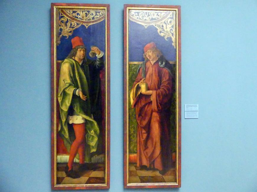 Hans Süß von Kulmbach: Standflügel mit hll. Cosmas und Damian von einem Nikolausaltar der Nürnberger Lorenzkirche, um 1507 - 1508