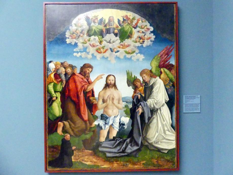 Wolf Traut: Die Taufe Christi mit Stifterbild eines knienden Zisterziensermönchs, 1517