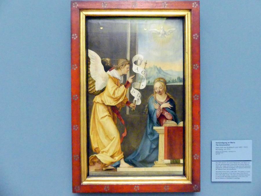 Hans Süß von Kulmbach: Verkündigung an Maria, um 1513