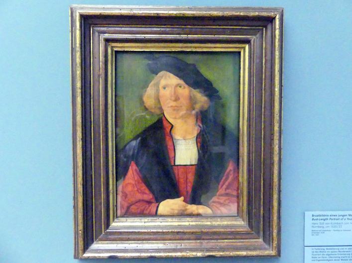 Hans Süß von Kulmbach: Brustbildnis eines jungen Mannes, Um 1520 - 1522