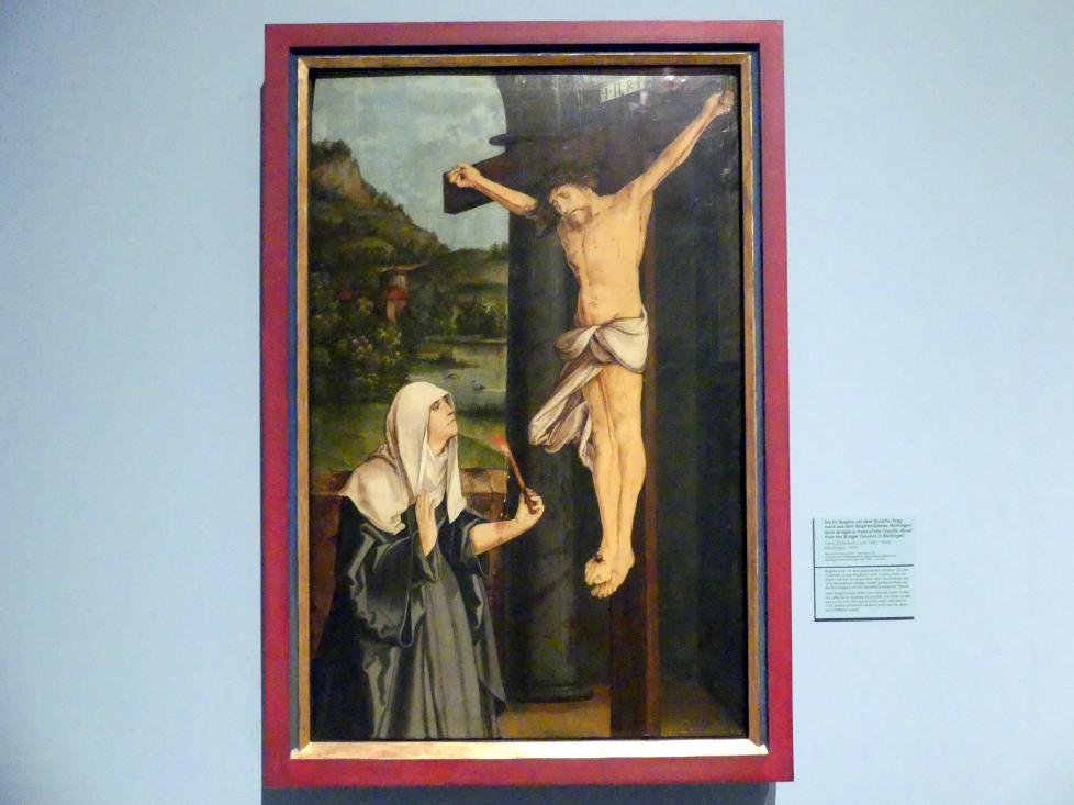 Hans Schäufelein: Die hl. Birgitta vor dem Kruzifix; Fragment aus dem Birgittenkloster Maihingen, 1520