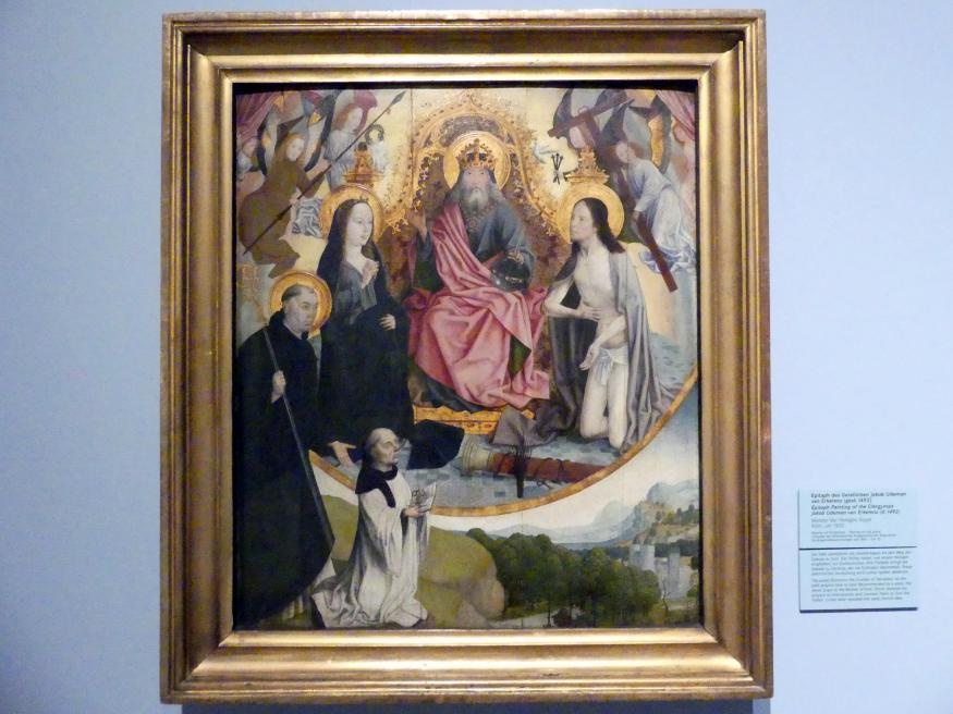Meister der heiligen Sippe: Epitaph des Geistlichen Jakob Udeman van Erkelenz (gest. 1492), um 1500