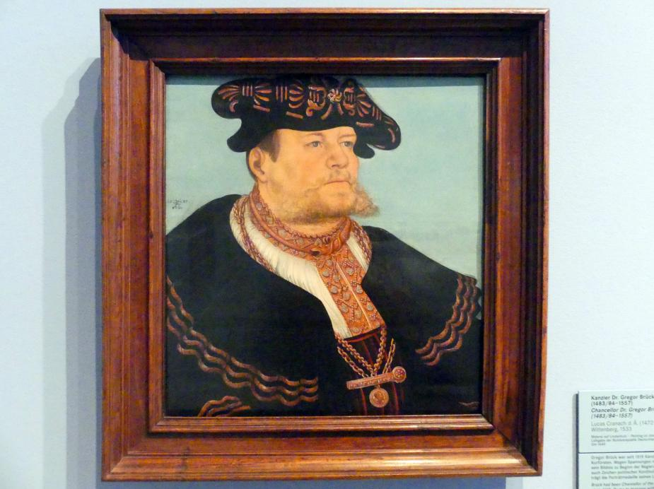 Lucas Cranach der Ältere: Kanzler Dr. Gregor Brück (1483/84-1557), 1533