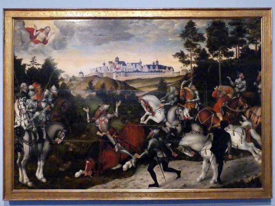Lucas Cranach der Jüngere: Die Bekehrung des Saulus, 1549