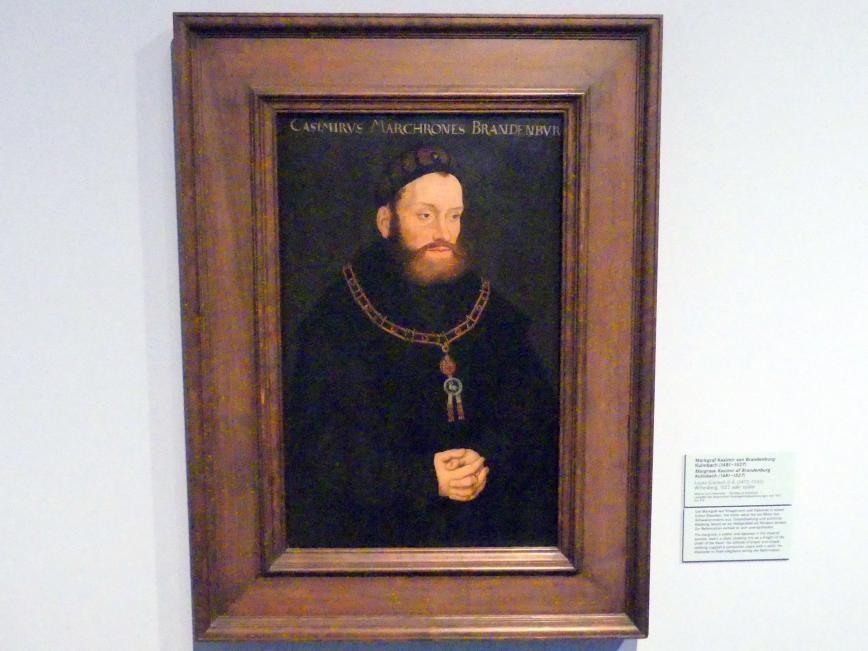 Lucas Cranach der Ältere: Markgraf Kasimir von Brandenburg-Kulmbach (1481-1527), nach 1522