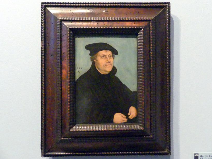 Lucas Cranach der Ältere: Martin Luther (1483-1546) im 50. Lebensjahr, 1533