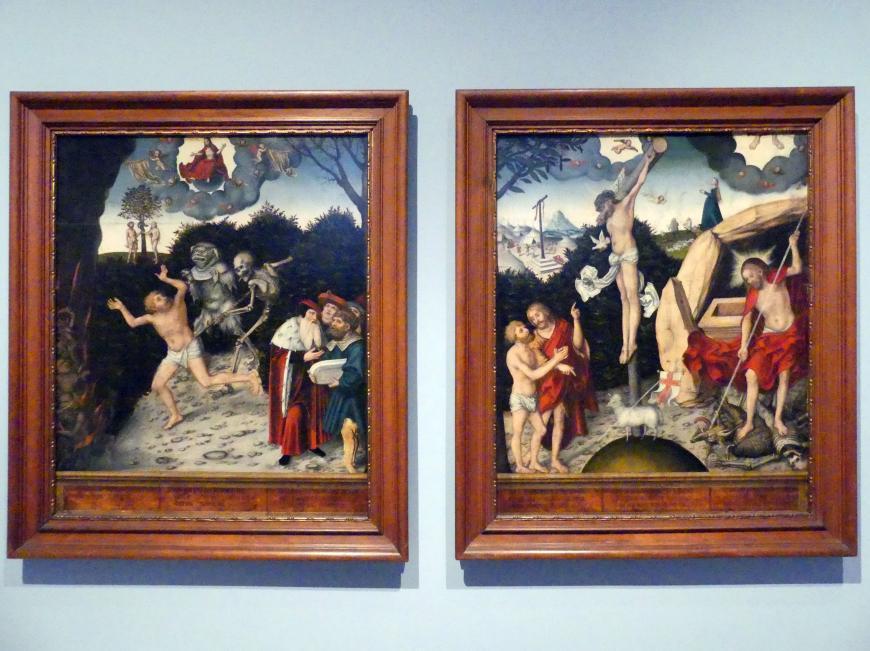 Lucas Cranach der Ältere: Allegorie auf Gesetz und Gnade, Nach 1529