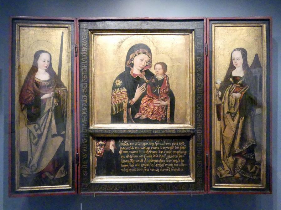 Triptychon mit Kopie der Gnadenmadonna von S. Maria del Popolo in Rom, um 1490 - 1495