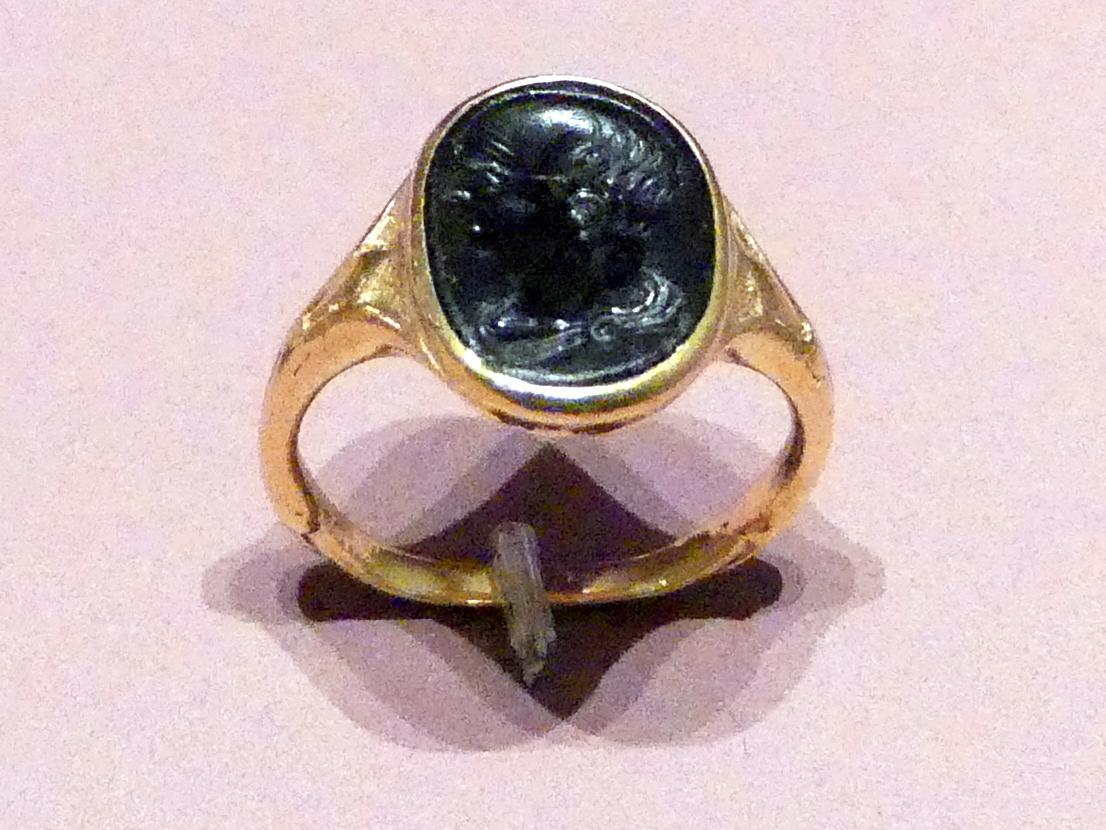 Sog. Maecenas-Ring: Fingerring mit Bildnisbüste des Cicero (106-43 v. Chr.), 1. Jhd. v. Chr.