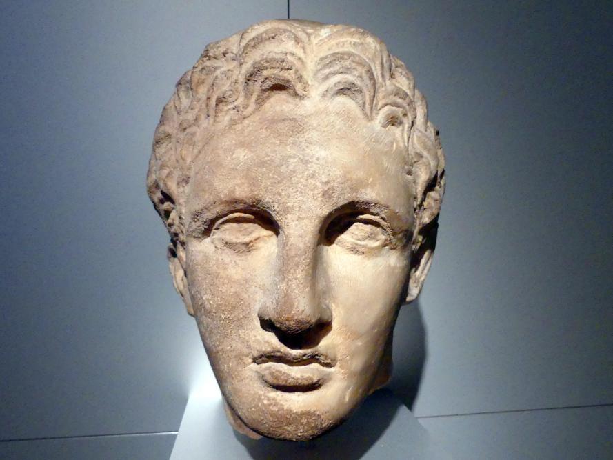 Kopf eines jugendlichen Heroen, 330 - 320 v. Chr.