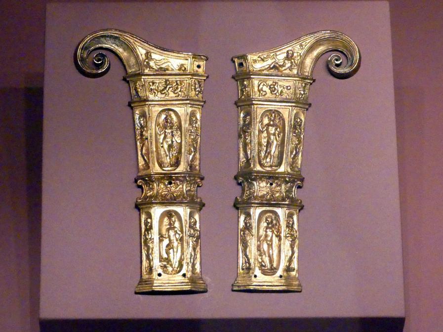 Wenzel Jamnitzer (Umkreis): Ein Paar Modelle für Dolchgriffschalen, Um 1540
