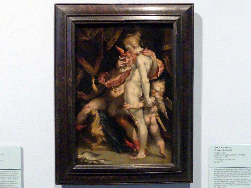 Venus und Merkur (Kopie nach Bartholomäus Spranger), Nach 1600