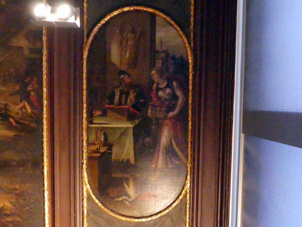 Izaak van den Blocke: Neunteiliges Deckengemälde mit allegorischen und biblischen Szenen, Um 1611 - 1614